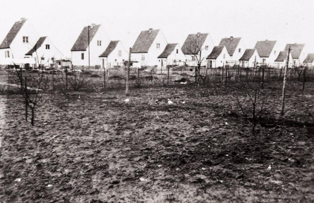 Später ca. 1939 wurden dann auch am Ginsterbusch noch 8 weitere Heimstätten gebaut. Aus dem Ackerland wurden durch Bewirtschaftung und Bepflanzung langsam aber sicher Gärten... (Tolle)